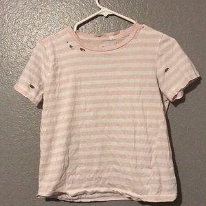 Distressed t- shirt